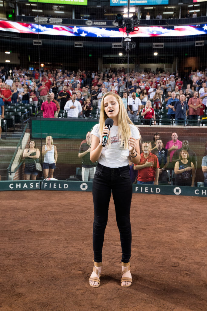 Performing at the DBacks Game