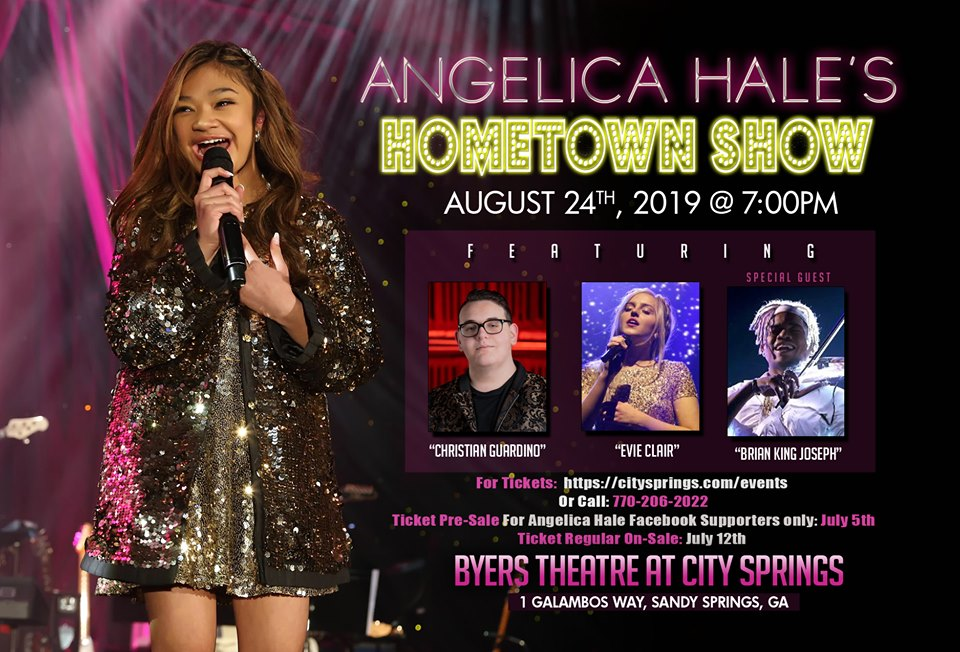Show in Atlanta with Angelica Hale